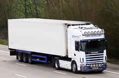Scania 164 BF52 WLC (gylesnikki) Tags: white truck artic mickwhalley