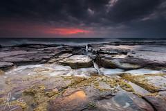 Dawn at Wombarra Beach (sachman75) Tags: longexposure sea seascape sunrise coast rocks waves coastal reef firstlight illawarra canon1740mmf4 grandpacificdrive leend9 lawrencehargreavedrive canon5dmarkii wombarrabeach singhrayreversendgrad3stops leefiltersndgrad3stops