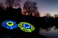 Ring lights (apophisnico) Tags: light lightpainting landscape lampe diy nightshot lumire bretagne led lp paysage maisonblanche raspberrypi adafruit tamron1750 ileetvilaine saintgregoire heurebleu sonya77 sonyslta77