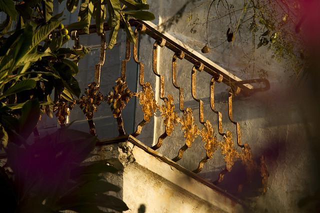 balcón en óxido