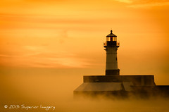 Beacon on a Golden Palette (NightSkyMN) Tags: yellow golden december northshore beacon duluth seasmoke canalpark