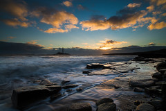"""Sr Mary's Lighthouse at Dawn with High Tide<br /><span style=""""font-size:0.8em;"""">Sunrise photoshoot at Old Hartley in Ian Purves' blog <a href=""""http://purves.net/?p=1070"""" rel=""""nofollow"""">purves.net/?p=1070</a></span> • <a style=""""font-size:0.8em;"""" href=""""https://www.flickr.com/photos/21540187@N07/8440346995/"""" target=""""_blank"""">View on Flickr</a>"""