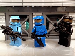 Blue Team (TRLegosfan) Tags: blue red lego halo characters vs uploaded:by=flickrmobile flickriosapp:filter=nofilter