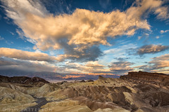 Morning Glory at Zabriskie Point (Jim Patterson Photography) Tags: california morning travel light nature clouds sunrise landscape outdoors photography golden nationalpark rainbow desert bigsky deathvalley badlands geology zabriskiepoint inyocounty jimpattersonphotography jimpattersonphotographycom seatosummitworkshops seatosummitworkshopscom