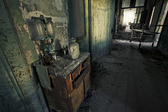 Pneumothorax machine (Subversive Photography) Tags: light abandoned sunrise hospital atmosphere urbanexploration asylum subversive derelict hdr urbex sanitorium dutchtilt danielbarter unitedstatesofdecay