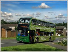 15453, Trafalgar Way. (Jason 87030) Tags: trafalgarway southbrook daventry northampton d2 northants sky clouds sunny northamptonshire july 2016 sony alpha ilce flickr tag stagecoach e400 enviro 15453 homesense vinyls
