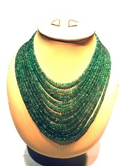 632 cts Emerald Bead Necklace 1 (cottagedel) Tags: emerald beads naturalstone finejewellery indianjewellery handmade