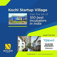 The Kochi Startup Village located 3 Kms from Nucleus Raymount has been ranked top among the 100 best startup incubators in India by the India edition of Entrepreneur Magazine.   #News #Kerala #Kochi #India #Architecture #Home #Construction #City #Elegance (nucleusproperties) Tags: life beautiful kochi elegant style kerala realestate lifestyle india news luxury villa comfort apartment nature architecture interior gorgeous design elegance environment beauty building exquisite view city construction atmosphere home living