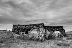 Boat Huts (alanrharris53) Tags: beach boats island huts holy northumberland lindisfarne upturned