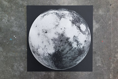Moon (scottboms) Tags: prints silkscreen posters speedball arl analogresearchlab projects moon nationalmoonday globe silver designerinresidence