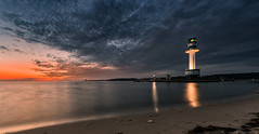 Sunday morning (Stefan Sellmer) Tags: friedrichsort germany kiel kielfjord light lighthouse reflections schleswigholstein sunrise water longexposure morning morningglow summer deutschland de