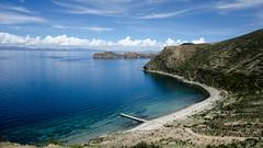 Isla del Sol (huasinx) Tags: sun lake sol titicaca del landscape lago playa isla inti d7000