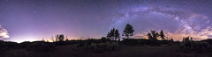 Experimental 360 Panorama of Va Lctea in Mount Laguna (slworking2) Tags: julian california unitedstates us mountlaguna panorama vialactea night sky nighttime milkyway