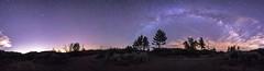 Experimental 360 Panorama of Va Lctea in Mount Laguna (slworking2) Tags: julian california unitedstates us mountlaguna panorama vialactea night sky nighttime milkyway
