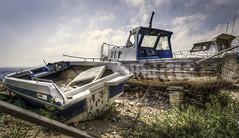Seen better days (gibwheels) Tags: boats speedboat dilapidated rotting left forgotten hdr nikon d500 resting place gibraltar british rock