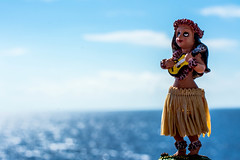 little hula girl (-gregg-) Tags: hula girl cruise ship vacation ocean water sea sky clouds railing