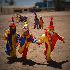 Kids in clowns (Marco A Rodriguez) Tags: clown payaso tierra ecuador festival colores colors kids nios disfraz sol verano quito tumbaco