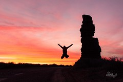 Jump For Joy (thetrekplanner) Tags: camping canyons desert hiking nationalpark utah canyonlands sandstone colorful pink red