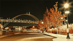INFRARED FREMONT BRIDGE -55338- (Terry Frederic) Tags: bridges canon5dmkiii colorefexproprocessed infrared lightroom661processed longexposure nature night oregon photoshop portland streetscene streets terryfrederic topazadjust5processed topazdenoiseprocessed usa