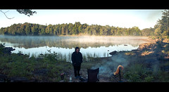 Warm Morning Fire (Jackx001) Tags: 2016 camptrip camping canada family fishing labourday nature ontario pickerelriver september weekend wild canoe