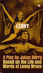 Grove Press Black Cat 355 - Movie Tie-in 1972 (uk vintage) Tags: grovepress blackcat lenny aplay julianbarry movietiein thelifeandwordsoflennybruce lennybruce photocover