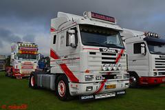 Scania 143M 'M. Hazeleger' reg BD-DN-60 (erfmike51) Tags: scania143m v8 artic truck lorry mhazeleger swedefest2016