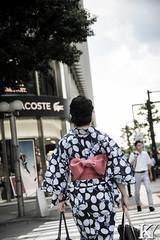 Woman wearing a Yukata 3/3 (ZKent.Yousif) Tags: chiyodaku tkyto japan jp  chku  minatoku canon sigma sigma1750mm 50mm streetphotography street people person yukata