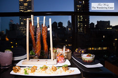 Our spread of food (thewanderingeater) Tags: spyglassrooftopbar rooftopbar manhattan nyc midtownwest cocktails barfood archerhotel