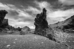 Black beach (AxelN) Tags: stone rock felsen fels sw djpalnssandur iceland schwarzerstrand clouds wolken schwarzweis island sky himmel blackandwhite blackbeach bw stein