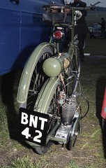 WAW Motorcycle. Reg: BNT 42 (bertie's world) Tags: sunbeam pioneer run 1979 epsomdowns motorcycles waw motorcycle reg bnt42