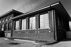 tulsa water works (fallsroad) Tags: tulsaoklahoma building architecture brick windows industrial blackandwhite bw nikond7000