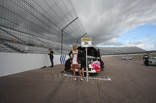 Mike Epps on the grid at Rockingham, August 2016