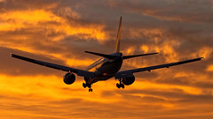 KLM Boeing 777-200ER PH-BQA (Aviation and Travel photography) Tags: amsterdam schiphol airport sunrise sun outdoor boeing klm arrival spotting aviation aircraft netherlands world luchtvaart