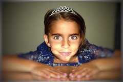 "My ""National Geographic"" moment :) (PointOfUPhotography) Tags: sparkles starsparkled littlegirl girl angelinavukel blue princess crown portrait hazeleyes bigeyes"