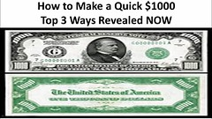 how to make a quick $1000 How to Earn Online Fast (makecashonline411) Tags: 1000 howto make online money cash ways tips
