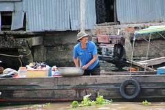 IMG_4435a - Harbour of Ci B, Vietnam (Wayne W G) Tags: cib vietnam asia southeastasia caibe avalon people boat boats river rivers mekong