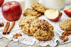 apples oats cinnamon cookies (Tesco R) Tags: cookies cake appetizing aromatic bake apple fruit oat cinnamon pastry breakfast oatmeal closeup grain decorate delicious dessert dish food gourmet holiday ingredient meal nobody nutritious pie piece plate sugar sweet tart tasty treat health wooden rustic milk