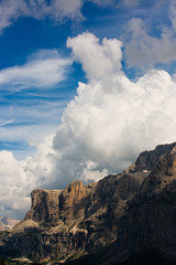 Val Gardena  Clouds over the Sella (vincos) Tags: valgardena clouds landscape sella dolomites dolomiti