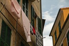 Cinque Terre, Monterosso, bedsheets (Kurtsview) Tags: italy cinque terre monterosso architecture street people village unesco