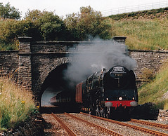 19940806  71000 (paulbrankin775) Tags: settle carlisle sc shotlock tunnel 71000 duke gloucester br cumbrian mountain express steam railway mainline 1994 smoke