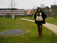 2016-03-20-02 (mathildecross) Tags: crossdress crossdressing crossdresser boots bamberg outdoor pantyhose transvestit