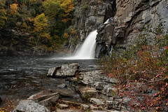 Autumn Color at Linville Falls (R. Keith Clontz) Tags: autumnleaves waterfalls blueridgemountains linvillegorge autumntrees autumncolor appalachianmountains linvillefalls westernnorthcarolina northcarolinamountains mossyrocks linvilleriver layeredrocks autumnforest rkeithclontz blueridgepics blueridgelight