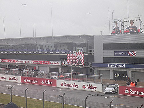 The podium for the Formula BMW race at the 2008 British Grand Prix