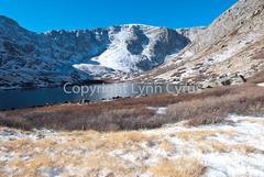 Dusting of snow (Lynn photographing the world) Tags: autumn mountain lake snow ice landscape colorado rockymountains mountevanswildernessarea