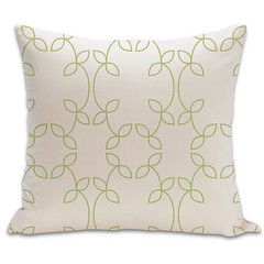 Vine Organic Pillow in Lime and Natural 18x18 (PURE Inspired Design) Tags: customfurniture organicfabric ecofriendlyfurniture woolrugs