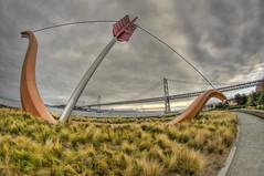 Cupid's Bow and Bay Bridge (e.b. image) Tags: bridge bay bow sanfranciscobay cupids