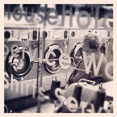 Through the window (Flamenco Sun) Tags: city uk england urban london britain laundry gb laundromat launderette laundrette londoner londonist