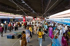 arrival and departure (drewtrans8877) Tags: travel india man station train asian publictransportation indian crowd platform architectural busy trainstation depart transportation arrive ethnic mysore crowds groups southindia railwayterminal landtransportation karnatakastate indianethnicity
