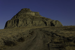 Road to castle butte (Mitch Serbu) Tags: road blue sky canada castle canon landscape butte dirt saskatchewan 550d t2i