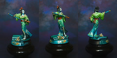 Geisha Assassin (ChestOfColors.com) Tags: female miniature geisha scifi oriental katana assassin paintedminiature darkswordminiatures